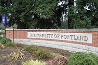 University of Portland entrance sign.JPG