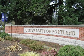 University of Portland - Main entrance to the university