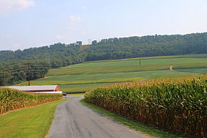 Upper Augusta Township, Northumberland County, Pennsylvania - Upper Augusta Township south of Sunbury
