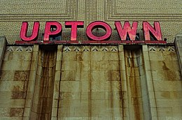 Uptown in Neon Letters