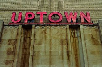 Uptown Theater (Washington, D.C.) - Detail of Uptown Theater sign