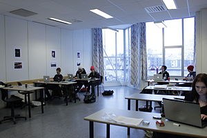 Learning theory (education) - A classroom in Norway. Learning also takes place in many other settings.