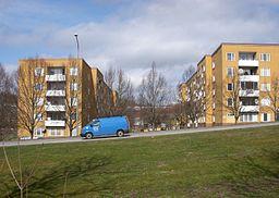 Forårsbys typiske 1970-talebebyggelse tæt på Vårby allé.