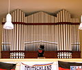 Völklingen, Aula des Albert Einstein Gymnasiums Orgelprospekt.JPG