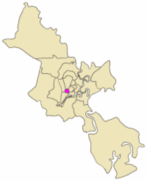 District 11, Ho Chi Minh City - Map showing the location of District 6 within metropolitan Ho Chi Minh City