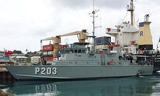 Tongan Maritime Force - Image: VOEA Savea (P203) VAV Patroulienboot 2