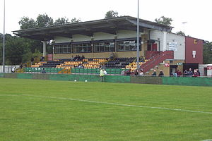 Castle Vale - The grandstand at the Vale Stadium.