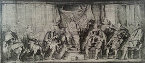 Lost artworks - Grisaille sketch of Magistrates of Brussels, in the École nationale supérieure des Beaux-Arts in Paris