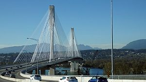 Port Mann Bridge - The new Port Mann Bridge with the old bridge fully demolished