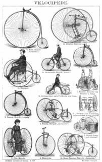 Velocipede human-powered land vehicle with one or more wheels