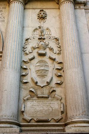 San Zulian - Image: Venezia Jacopo Sansovino, San Zulian (1555) Foto Giovanni Dall'Orto, 12 Aug 2007 14 Iscrizione greca