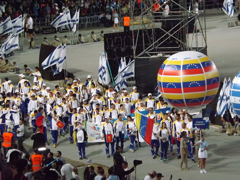 File:Venezuelan delegation at the 2013 Maccabiah Games.JPG