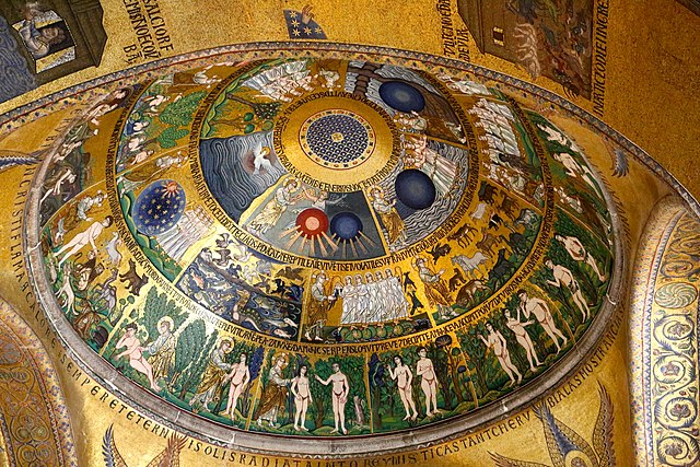One of the mosaics from the St Mark's Basilica (Venice)