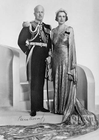 Viceregal consort of Canada - The Countess of Bessborough (right), viceregal consort of Canada, with her husband, the Earl of Bessborough, in their official photograph as governor general and viceregal consort of Canada, 1933