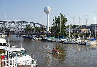 Vermilion River (Ohio) - A marina on the Vermilion River at the city of Vermilion