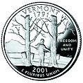 Vermont quarter, reverse side, 2001.jpg