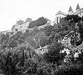 Veszprém 1940, Az Érseki Palota a Séd partjáról fényképezve. Fortepan 6100.jpg