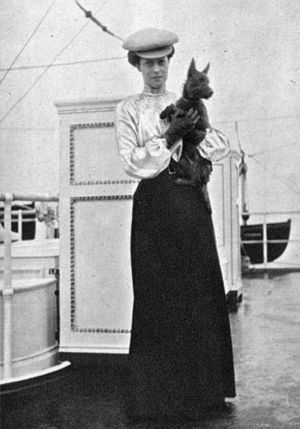 Princess Victoria of the United Kingdom - Princess Victoria with her dog, Mac, taken by her mother