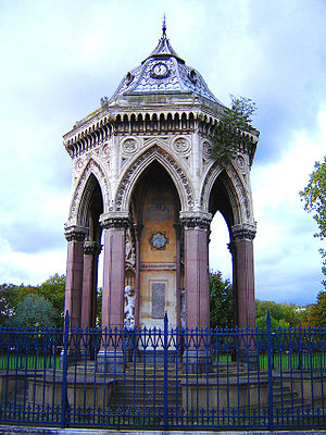 Metropolitan Drinking Fountain and Cattle Trough Association - The Baroness Burdett Coutts Drinking Fountain, Victoria Park, Tower Hamlets, London.