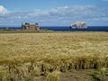 View from Auldhame Farm towards Tantallon Castle - geograph.org.uk - 228929.jpg