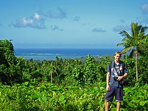 Archaeology of Samoa - View from Pulemelei Mound towards the sea