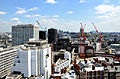 View from Westminster Cathedral 2011 construction Victoria Street.jpg