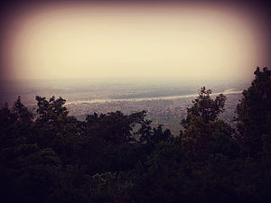 Maula Kalika - View of Gaindakot and Bharatpur from Hills of Maula Kalika Temple