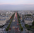 View from top Arc de Triomphe, Paris September 2013 001.jpg