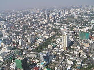 Baiyoke Tower II - Image: View north from the Baiyoke Tower II