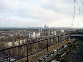 View of Chernobyl taken from Pripyat.JPG