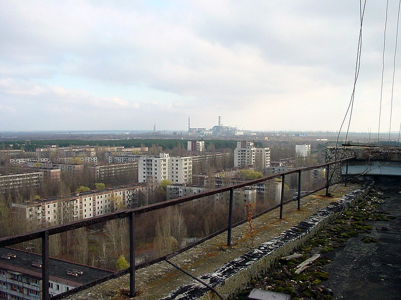chernobyl seen from pripyat, 2007, jason minshull