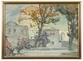 View of Jerusalen. Study (Anna Boberg) - Nationalmuseum - 20532.tif