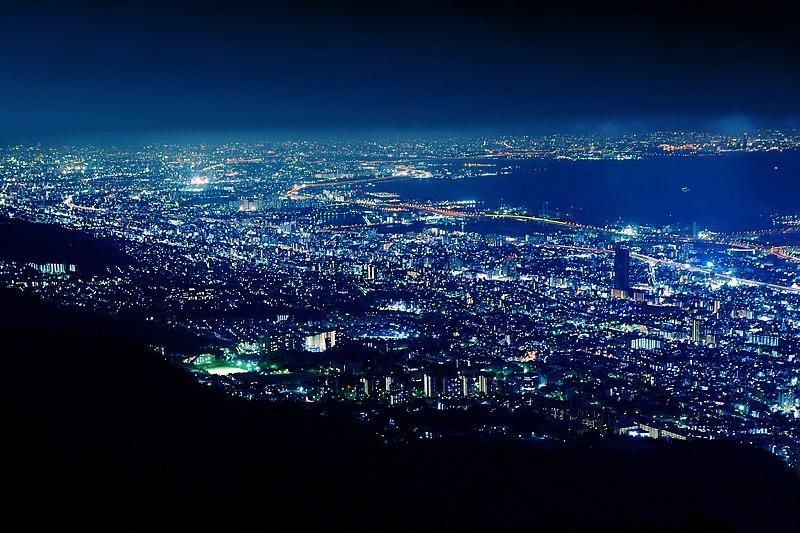 File:View of Kikuseidai from Mount Maya Kobe.jpg