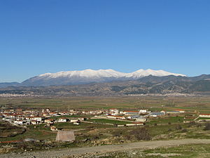 Elassona - View of Olympus from Elassona.