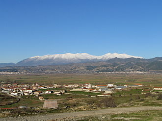 Elassona - View of Olympus from Elassona