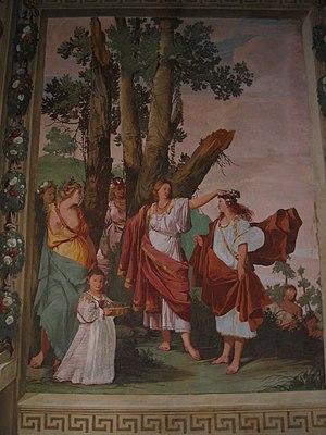 Giulio Carpioni - Fresco in Villa Caldogno Nordera, Caldogno, Vicenza, Italy