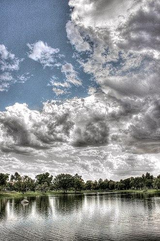 Chandler, Arizona - Lake at Village of Gila Springs subdivision, Chandler
