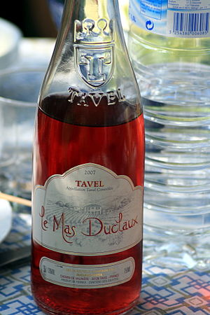 "Tavel AOC - Image: Vin ""Le mas Duclaux"" (TAVEL,FR30)"
