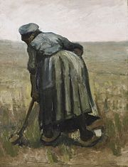 Vincent van Gogh - Peasant woman digging.jpg