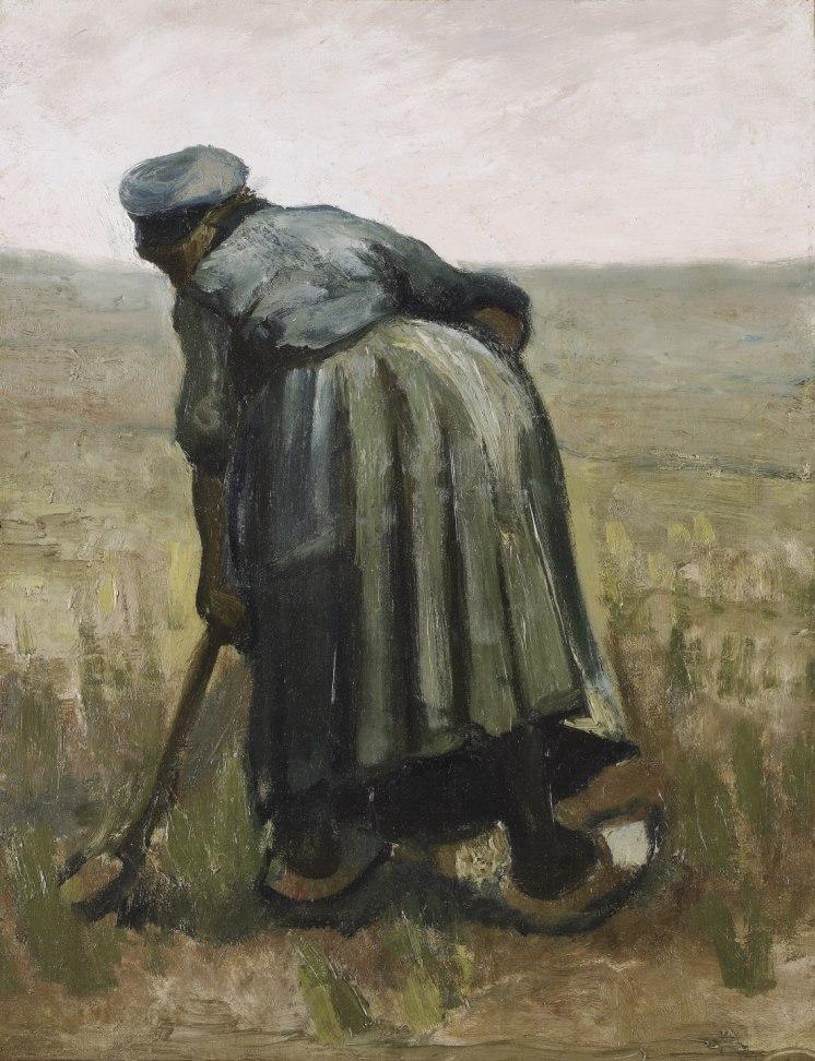 Vincent van Gogh - Peasant woman digging