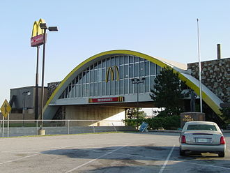 Will Rogers Turnpike - A view of the Vinita McDonald's from the westbound parking lot