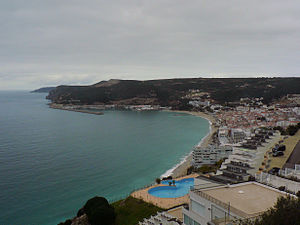 Battle of Sesimbra Bay - Image: Vista de Sesimbra