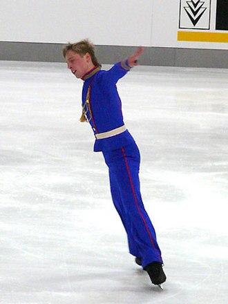 Spread eagle (figure skating) - Image: Vitali Sazonets 2007 Nebelhorn Trophy