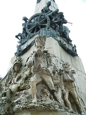Battle of Vitoria - The French withdrawal, Monument to the Battle, in Vitoria-Gasteiz.
