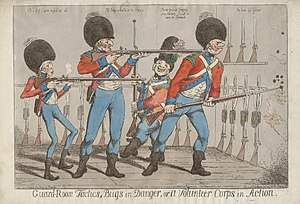 British Volunteer Corps - A 1798 caricature of volunteer infantrymen
