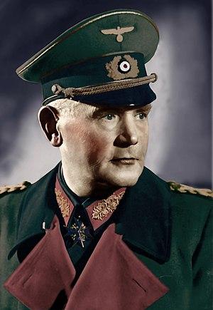 Remilitarization of the Rhineland -  The German War Minister General Werner von Blomberg.