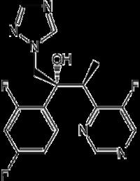 Struktur von Voriconazol