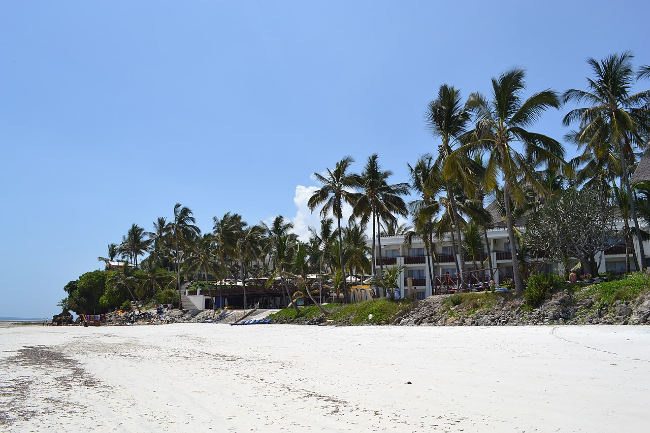 Voyager Beach Resort as viewed from Nyali Beach, Mombasa. Credit: Christopher T Cooper