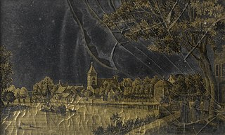 View of the Town of Vreeland on the Vecht River