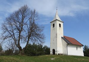 Vrh nad Želimljami - Saint Peter's Church